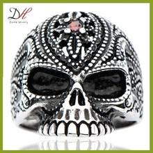 Daihe RN4236 Gemstone male skull rings, evil eye jewelry