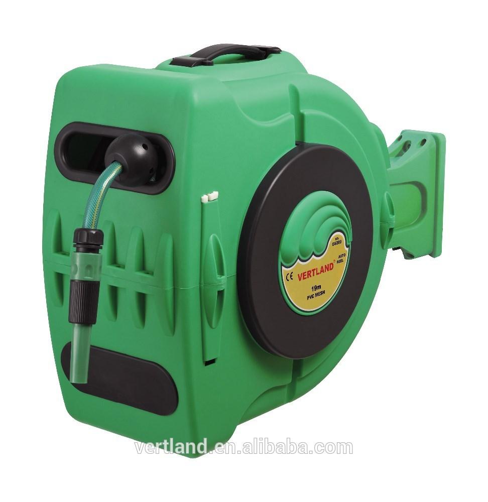 20M 1/2inch Auto rewind water garden hose reel with nozzle