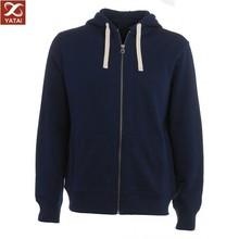 navy blue classic zipper-up mens hoody fleece
