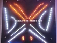 factory price 50cm 85cm s8 flexible drl led car logo door light