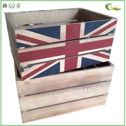 china product wood beer carry case with custom printings