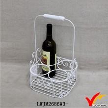 white scroll design vintage metal wine bottle holders unique