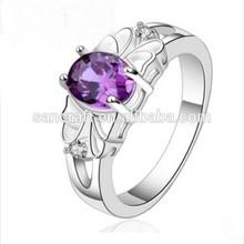 Wholesale Fashion Women Exquisite Dazzling Zircon 925 Silver Diamond Ring