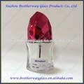 Elegante de alta qualidade unha polonês/vidro de esmalte frascos com tampa vermelha