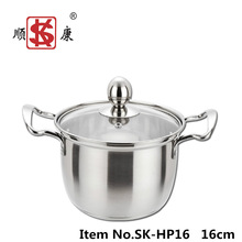 2014 Hot Selling Kitchen Stainless Steel Casserole Pot with Steel Handle