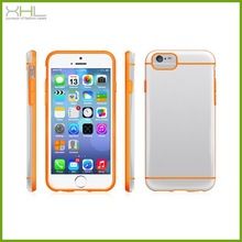 Ultra thin crystal pc tpu case for iphone 6 , slim tpu case for iphone 6