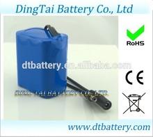 DC output 2s1p li-ion rechargable 7.4v -8.4v 6000mah battery pack