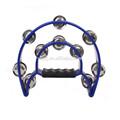 giocattolo per bambini di plastica blu nero struttura in metallo campane tintinnio tamburello