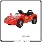 HT-99816 red color ride on car with light and sound can connection Mobile and MP3 pink yellow and red color