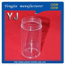 Transparent plasitic round candy / pill jar