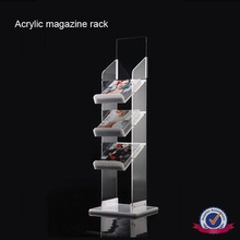 New product fashionable design custom clear perspex magazine rack, plexiglass magazine rack