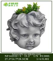 Religious Planter Resin Angel Head Flower Pot