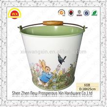 Wholesale decorative baby bucket custom steel plant mesh pot