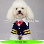 Pet dog coat, nice navy style dog suit coat with tie, dark blue coat for dogs