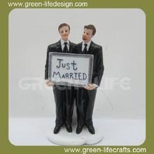 Wedding decoration resin gay cake topper