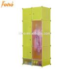 Double color CUSTOMIZABLE foldable cupboard wardrobe in green FH-AL0530-8
