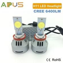 High quality Car 6400LM 80W H11 auto led headlight