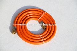 """3/8"""" Soft Orange Fibre Reinforced PVC Gas Hose, Flexible Cooker Gas Hose LPG Pipe ,PVC CylinderTube"""