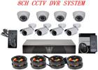 Indoor and Outdoor Mixed 1000 TVL camera de vigilancia & CCTV DVR Kit 8ch Security Camera System
