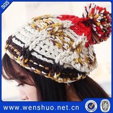 New Fashion Winter Wool Knit Hat Knitted Women Winter Wool Hat