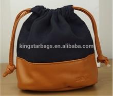Custom Drawstring Small PU Bag For Camera