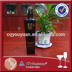 Vodka personalized black 500ml glass bottle weight 0.8kg