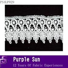long sleeve crochet voile lace wedding dresses white color