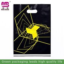 elegant top quality ldpe orange shopping die cutting bags