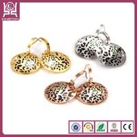 Kington stainless steel one gram gold earrings designs jewelry