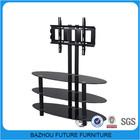 alibaba furniture metal frame glass lcd tv table furniture