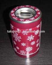 tea/coffee tin can