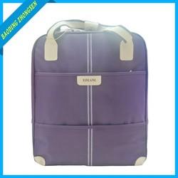 High quality purple trolley bag rolling duffel bags