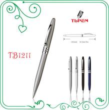 silver Metal Ball Pen 1mm black ink _ Table Talk Classic Signature Metal Pen