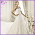Venda superior!!! Fábrica do oem design personalizado casamento vestido de renda com bolero