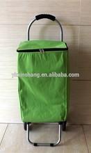 2 wheel cooler shopping cart trolley shopping bag