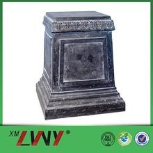 High quality natural stone interior black decorative column