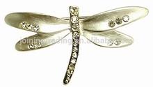 2015 new design crystal butterfly brooch