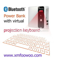 Hottest fashionable design Laser virtua mini keyboard with power bank for mobile phone ,tablet pc