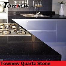 Black galaxy scratch-resistance quartz stone kitchen countertops