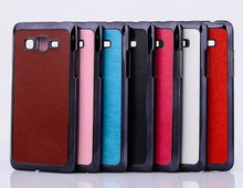 for Galaxy Grand Prime G5308 leather skin chrome case, for Samsung G5308 phone case