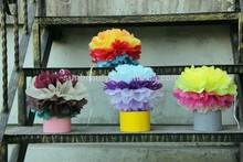 2015 hot sale 36 mix colors 17gsm tissue paper pom poms