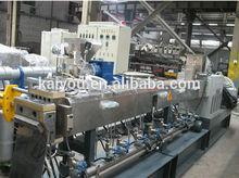 high capacity twin screw recycle plastic granules making machine price