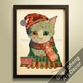 القطة كيتي الجملة ديكور المنزل جدار الفن الزخرفي لغرف الأطفال