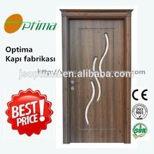 Zhejiang Optima cheapest wholesale turkey interior wooden pvc glass door