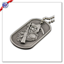 Souvenir die casting military dog tag font in zinc