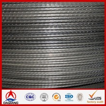 7x7 galvanized low carbon steel wire for communication