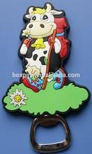 Spain cow 3D shaped PVC bottle opener fridge magnet (BOX-Spain cow 3D shaped PVC bottle opener fridge magnet-54b)
