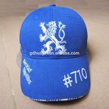 6 panel advertising 3D Embroidery Baseball cap
