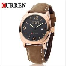 CURREN Watches Sport vogue watch men Military Leather Strap Wrist Quartz Watch