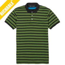 Fashion men's cotton jersey polo collar striped t shirt wholesale